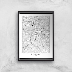London Light City Map Giclee Art Print