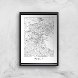 Dublin Light City Map Giclee Art Print
