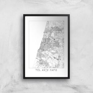 Tel Aviv-Yafo Light City Map Giclee Art Print
