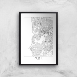 Perth Light City Map Giclee Art Print
