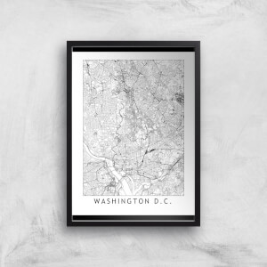 Washington DC Light City Map Giclee Art Print