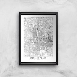 Minneapolis Light City Map Giclee Art Print
