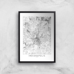 Indianapolis Light City Map Giclee Art Print