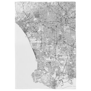 Los Angles City Map Tea Towel