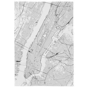 New York City Map Tea Towel
