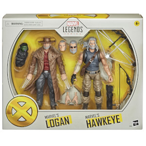 Hasbro Marvel Legends X-Men Old Logan & Hawkeye 2-Pack Action Figure