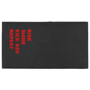 Rise Shine Kick Ass Repeat Fitness Towel