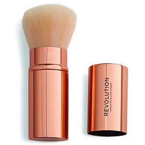 Makeup Revolution Retractable Kabuki Brush - Rose Gold