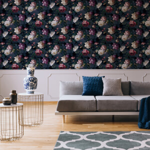 Superfresco Easy Navy Isabelle Floral Wallpaper
