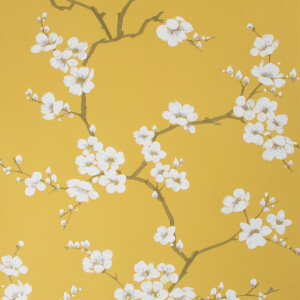 Fresco Ochre Apple Blossom Floral Wallpaper