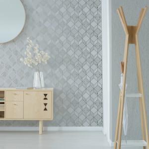 Superfresco Vittorio Grey/Silver Textured Plain Wallpaper