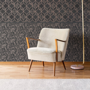 Superfresco Milan Charcoal/Rose Gold Textured Plain Wallpaper
