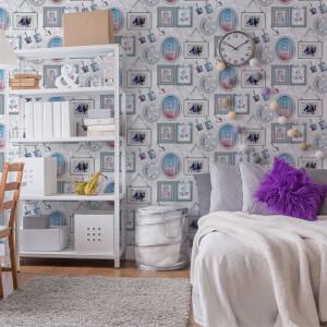 Disney Frozen 2 Character Framed Scene White/Blue Wallpaper