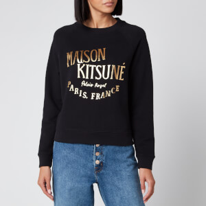 Maison Kitsuné Women's Sweatshirt Palais Royal - Black