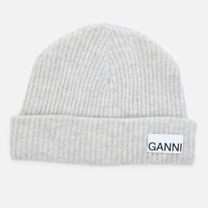 Ganni Women's Recycled Wool Knit Beanie - Paloma Melange