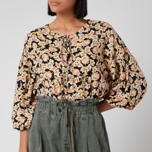 Free People Women's Highlander Printed Pullover - Black Combo