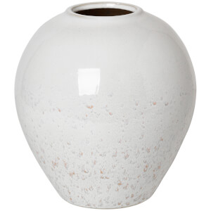 Broste Copenhagen Ingrid Vase - Medium - Rainy Day/Indian Tan