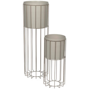 Broste Copenhagen Plant Stand - Set of 2 - Taupe
