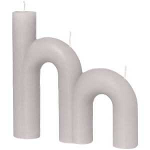 Broste Copenhagen Double Bend Candle - Rainy Day