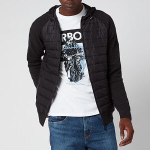 Barbour International Men's Albie Baffle Hooded Knit Jacket - Black Marl