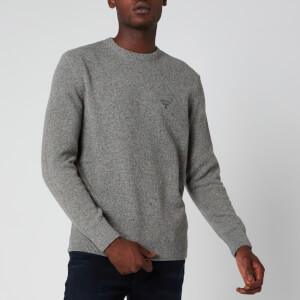 Barbour Beacon Men's Roan Knit Jumper - Mid Grey