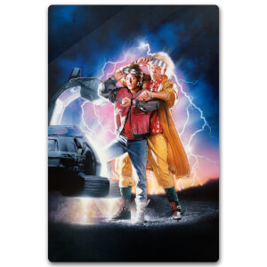 Zavvi Exclusive Limited Edition Back To The Future Part 2 Metal Poster - 40 X 60cm