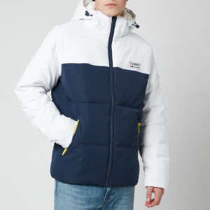 Tommy Jeans Men's Colorblock Jacket - White/Twilight Navy