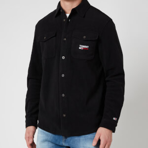 Tommy Jeans Men's Polar Fleece Shirt - Black