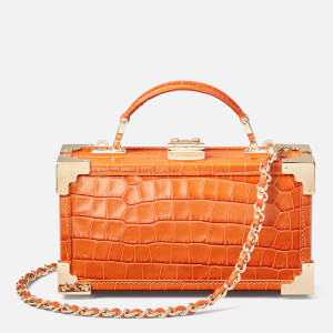 Aspinal of London Women's Trinket Trunk Small Croc Bag - Marmalade