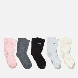 Superdry Women's Essential Sock 5 Pack - Oatmeal/Pink/Grey Marl/Charcoal Marl/Black