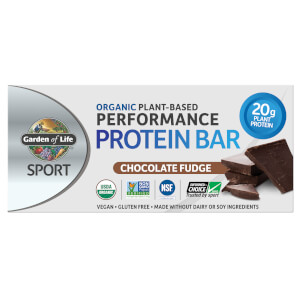 Barre Protéinée Sport Organic Plant-Based - Fudge au Chocolat - 12 Bars