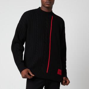 HUGO Men's Scablo Wool Jumper - Black