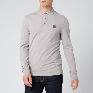BOSS Men's Passerby Long Sleeve Polo Shirt - Open Grey