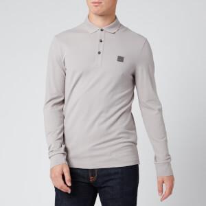 BOSS Men's Passerby Long Sleeve Polo Shirt - Open Grey