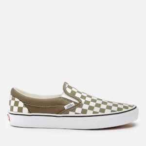Vans Men's Classic Slip-On Checkboard Trainers - Grape Leaf/True White