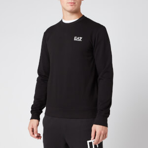 Emporio Armani EA7 Men's Chest Logo Sweatshirt - Black