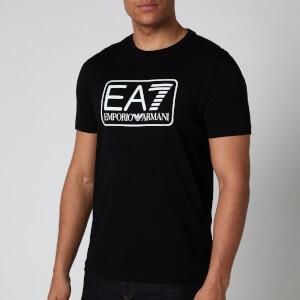 Emporio Armani EA7 Men's Large Logo T-Shirt - Black