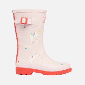 Joules Kids' Welly Print Wellies - Pink Unicorns