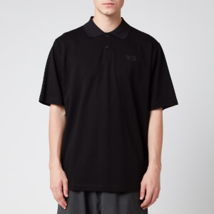 Y-3 Men's Classic Pique Polo Shirt - Black