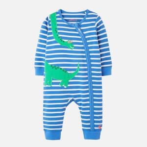 Joules Babies' Winfield Zip Babygrow - Green Dino