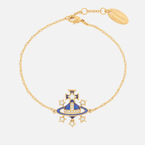 Vivienne Westwood Women's Dalila Bas Relief Bracelet - Gold Cobalt Crystal