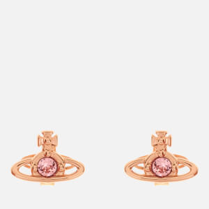Vivienne Westwood Women's Nano Solitaire Earrings - Pink Gold Light Rose