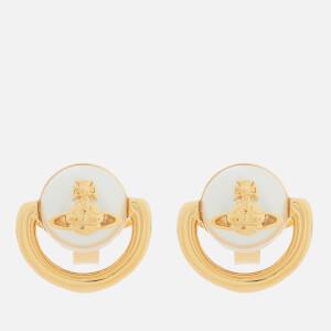 Vivienne Westwood Women's Celia Small Earrings - Gold Cream