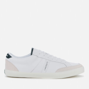 Lacoste Men's Coupole 0120 1 Leather Low Top Trainers - White/Dark Green
