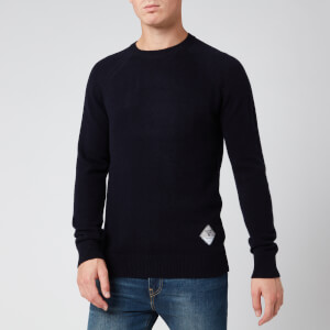 Barbour Beacon Men's Lambswool Crewneck Jumper - Navy