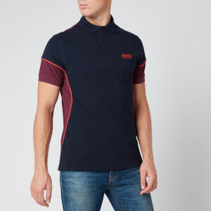 Barbour International Men's Block Polo Shirt - Navy