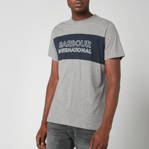 Barbour International Men's Panel Logo T-Shirt - Anthracite