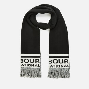 Barbour International Men's Fleet Knit Scarf - Black