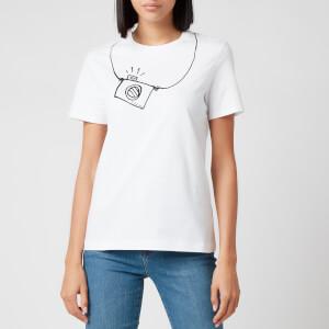 PS Paul Smith Women's Camera T-Shirt - White