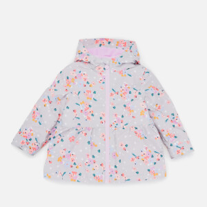 Joules Kids' Raindrop Peplum Coat - Grey